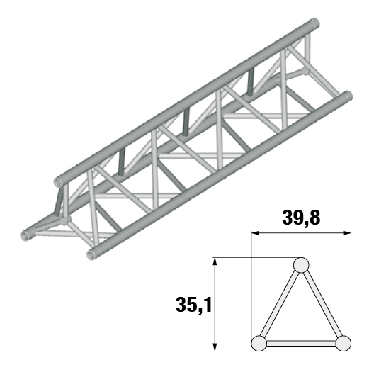 SB 40P - 3 Triangular Truss