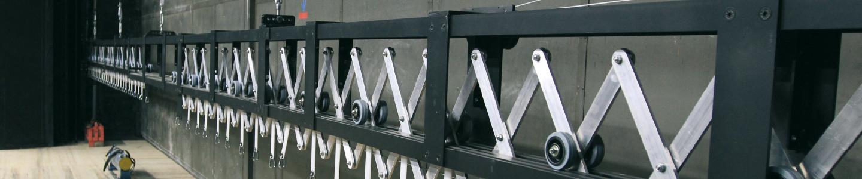 Sistema de carril de tijeras FENCE