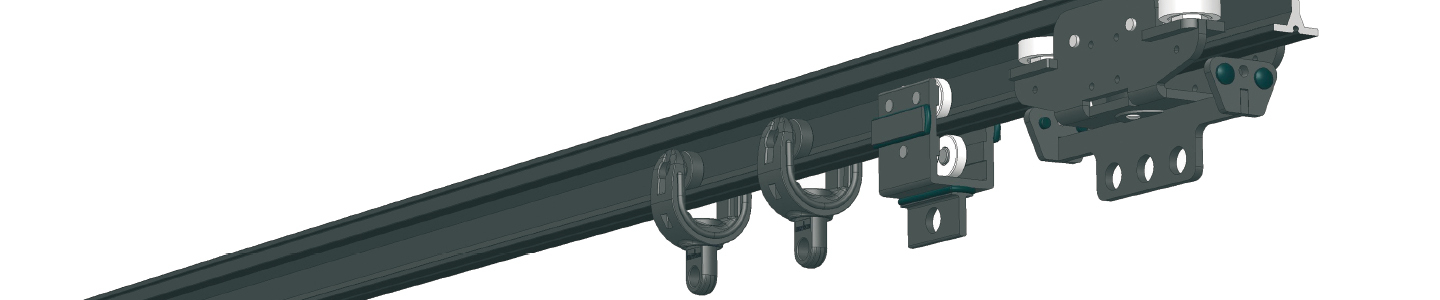 FRICTION-DRIVE Trailing-Cable- and Conductor-Rail Components