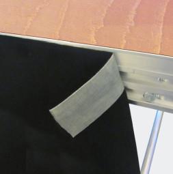 Podestverkleidung aus Bühnenmolton R 55