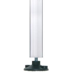 Steckfüße: mit verst. Polyamid-Lastenverteiler 60x60x3 mm