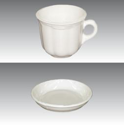 Crashglas GERO Kaffeetasse / Untertasse