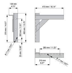 RUNWAY PLUS Raztegljiv stenski nosilec 40 cm