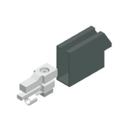Končni pokrivne element za enojno prevodniško tirnico