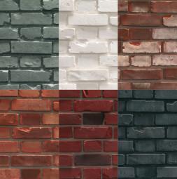 Стена, Модел BRICK Изглед,като Тухлена зидария