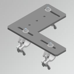 Placa de montaj cu 3 dispozitive de cuplat 750 Kg