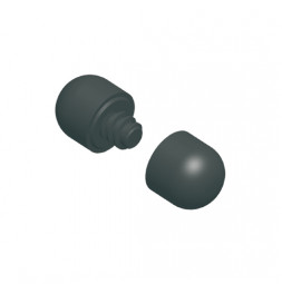 Plastic End Caps for Pipe Ø 28 mm.