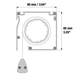 RUNWAY 1/250 - Motorické samonavíjecí projekční plátno