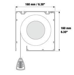 RUNWAY 1/500 - Motorické samonavíjecí projekční plátno