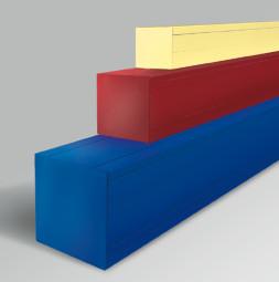 Ochranná krabice v RAL-barvách RUNWAY PLUS, 40 x 40 cm