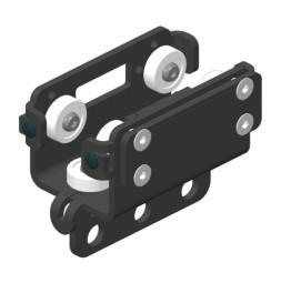 BELT-TRACK Vodící vozík s upevněním pro hnací řemen