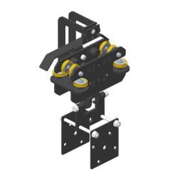 JOKER 95 Vodící vozík pro větší zátěž s držákem pro kulisy a koncovým spínačem, horní vedení lana