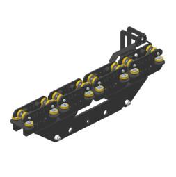 JOKER 95 Vodící robustní vozík 260 s koncovým spínačem, horní vedení lana