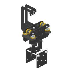 JOKER 95 Vodící vozík pro větší zátěž s držákem pro kulisy, dvojité horní vedení lana