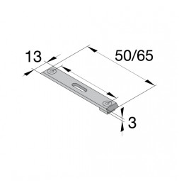 ELEGANCE Ceiling Mount Bracket for Double Track