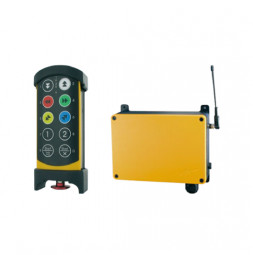 Hend Held Remote Control and Receiver with emergency stop circle
