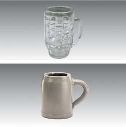 Break Away Glass GERO Beer Mugs 0,5 l