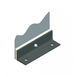 Mounting Flange bracket for tensioned fabrics, straight