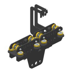 JOKER 95: Carro HD 150 con fijación de cuerda, guiado superior doble
