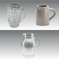 Cristal de resina GERO: Jarras de cerveza 1,0 l
