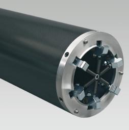 Tube carbone avec 6 pattes de serrage
