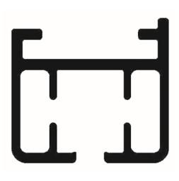 ELEGANCE Rail droit - profilé simple