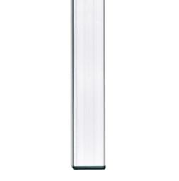 Pieds fixes : embout non réglable 45x45x2,5 mm