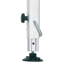 Pieds téléscopiques : réglage à cliquet 45x45x2,5 mm