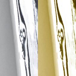 Lámina de PVC metalizado