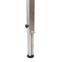 Pieds téléscopiques : réglage à cliquet 60x60x3 mm