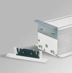 Угол открытия для встроенного потолочного монтажа систем RUNWAY 1