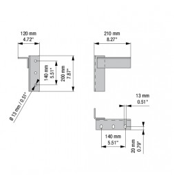 RUNWAY PLUS: настенный кронштейн без расстояния от стены