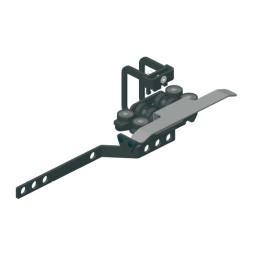 TRUMPF 95 с верхним тросом: Ведущая каретка с кронштейном для запáха занавеса и кронштейном для концевого выключателя