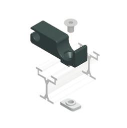 TRUMPF 95 с верхним тросом: Направляющий блок для прямых отрезков направляющей