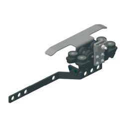 TRUMPF 95 с боковым тросом: Ведущая каретка с кронштейном для запáха занавеса и кронштейном для концевого выключателя