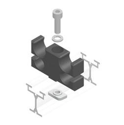 TRUMPF 95 с двойным верхним тросом: Направляющий блок для прямых отрезков направляющей