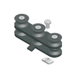 TRUMPF 95 с двойным верхним тросом: Направляющий блок для радиусных отрезков направляющей