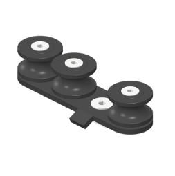 JOKER 95 с верхним тросом: Направляющий блок для радиусных отрезков направляющей