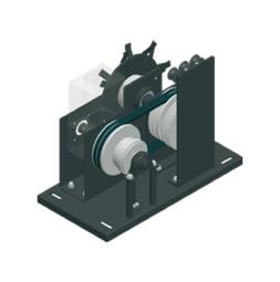 Мотор TRAC-DRIVE с аварийным приводом для пенькового троса