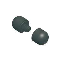 Комплект из двух пластмассовых торцевых крышек для стальной утяжеляющей штанги
