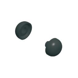 Комплект из двух пластмассовых торцевых крышек для алюминиевой утяжеляющей штанги