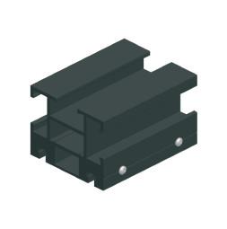 CUE-TRACK 2  Rail droit - profilé double