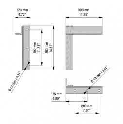 RUNWAY PLUS Rastezljiv zidni nosač, 30 cm