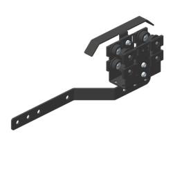 JOKER 95 Glavni nosivi kolotur s ručicom za prekrivanje/Zaključna sklopka, donje vođenje
