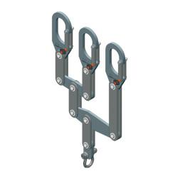 Distribucijski nosač, za 3 nosive cijevi