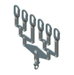 Distribucijski nosač, za 6 nosivih cijevi