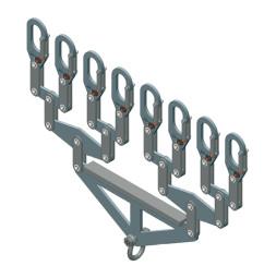 Distribucijski nosač, za 8 nosivih cijevi