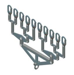 Distribucijski nosač, za 10 nosivih cijevi