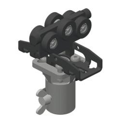 CARGO MICRO Scheinwerfer-Laufwagen mit Aufnahme für Repro-Zapfen DIN 15922 AZ 16