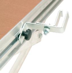 UNISTAGE frame/leg connection bracket, zinc plated
